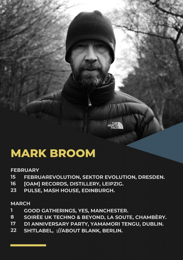 Mark Broom Gig Dates 2019