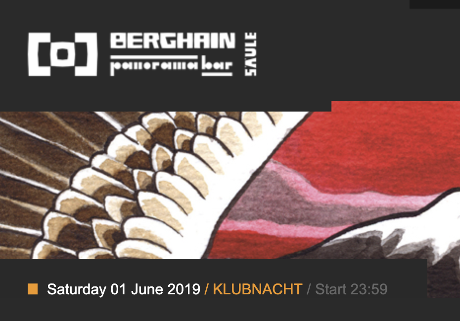 Mark Broom Klubnacht Berghain 1st June 2019