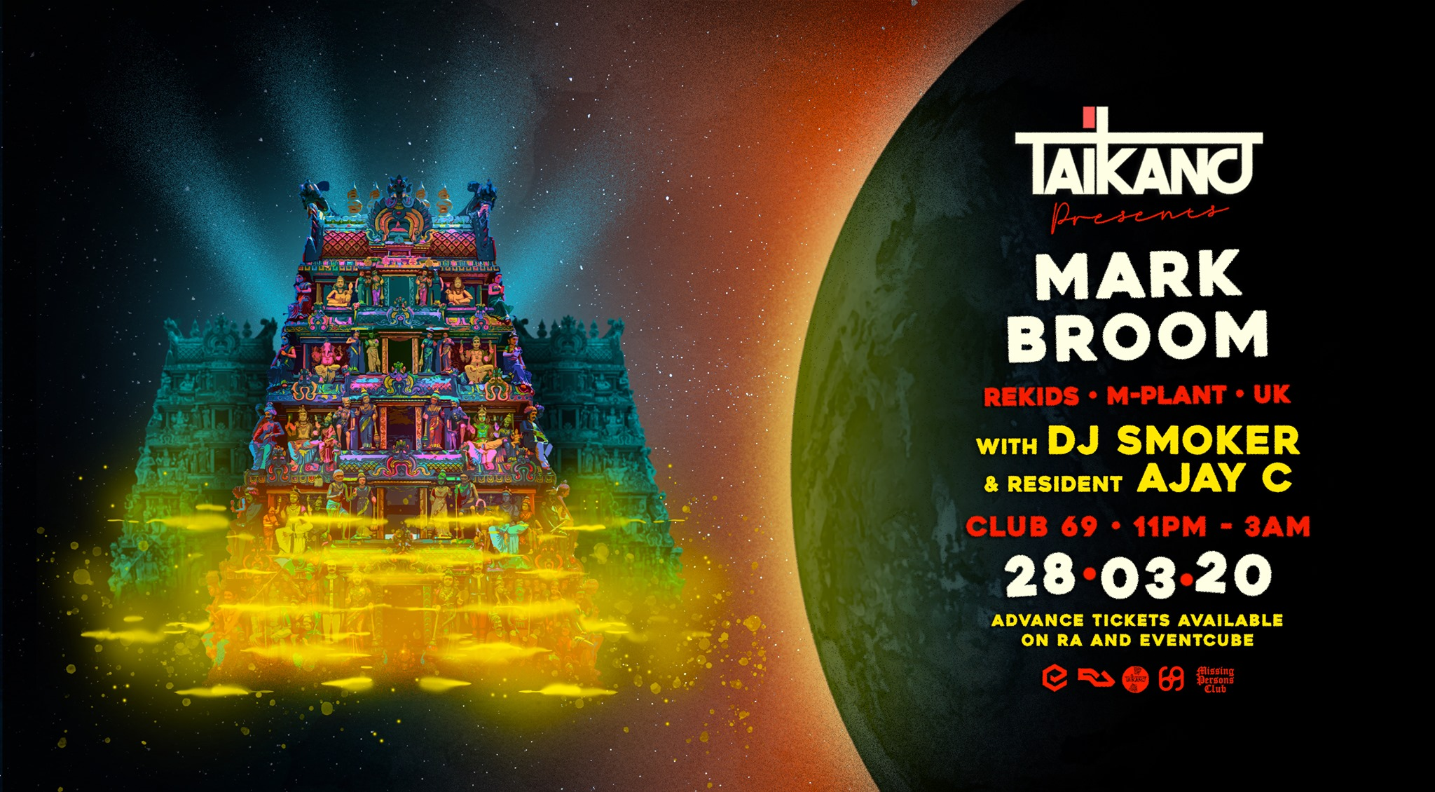 Mark Broom at Taikano presents MARK BROOM w/ DJ Smoker // AJAY C at CLUB 69